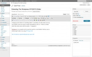 Extending The WordPress WYSIWYG Editor